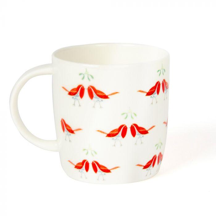 Roy Kirkham 'Kissing Robins' Mug