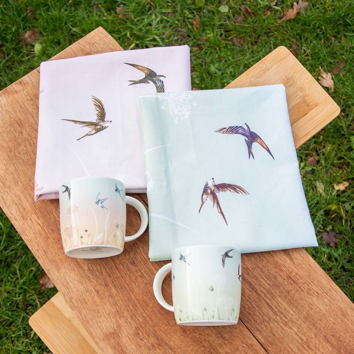 Roy Kirkham Swallow Mug (Pink & Blue)