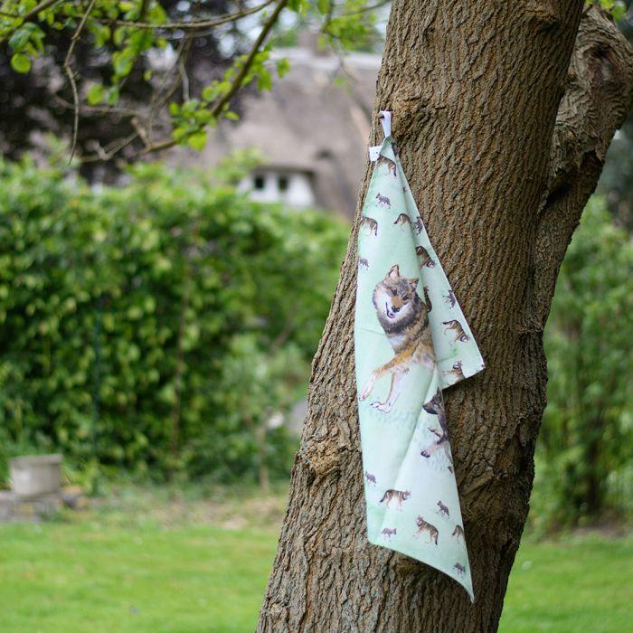 Myrte Wolf Tea Towel