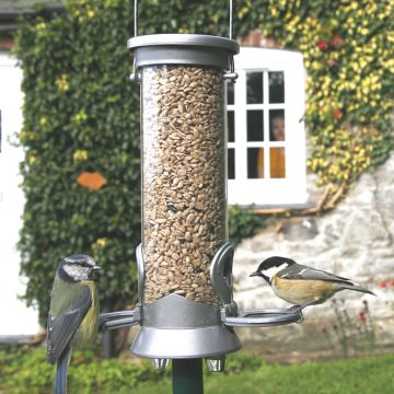 Silver Defender 2 port Seed Feeder