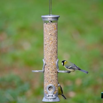Silver Defender 4 port Seed Feeder