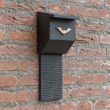 Coucy Wooden Bat Box - Black