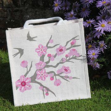 Swallow Jute Shopping Bag