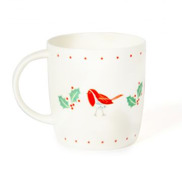Roy Kirkham 'Robin and Holly' Mug