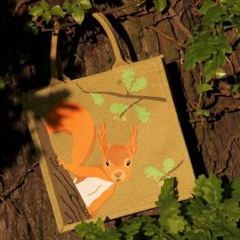 Squirrel Jute Shopping Bag